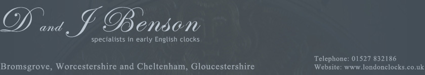 D and J Benson antique clocks
