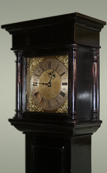 Fine And Early 30 Hour London Longcase Clock In Ebonised