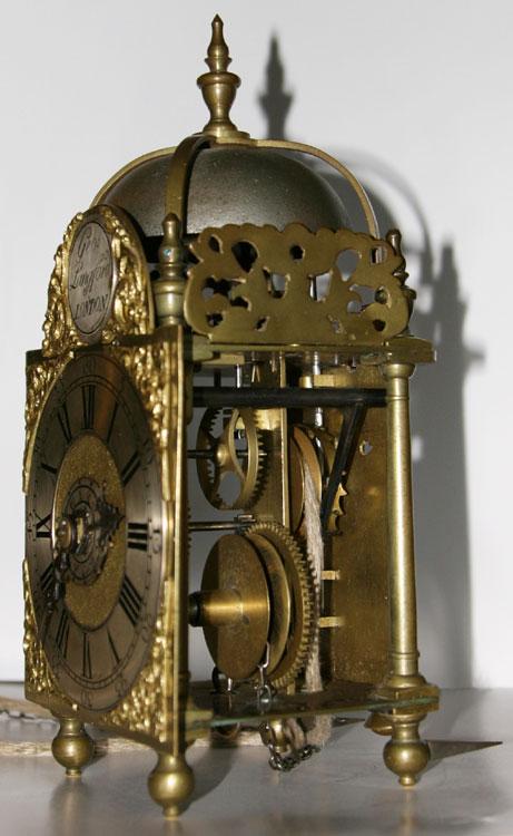 George Langford Of London Miniature Lantern Alarm Timepiece