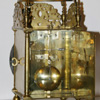 John Barnett lantern clock rear view