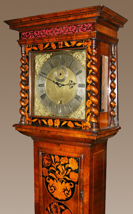 Month Duration Marquetry Longcase Clock By John Ebsworth