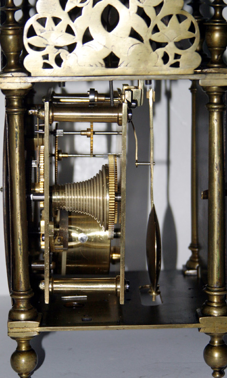 Single Fusee Lantern Clock By John Webb London