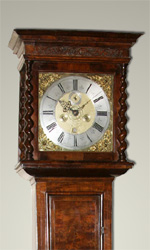 Jonas Barber walnut longcase clock