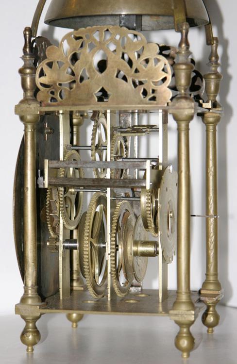 kent lantern clock with original recoil escapement