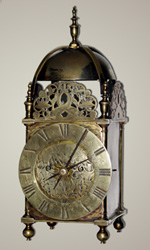 Nicholas Coxeter twin fusee lantern clock