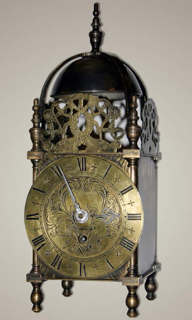 Reproduction Lantern Clock With 8 Day French Spring Driven