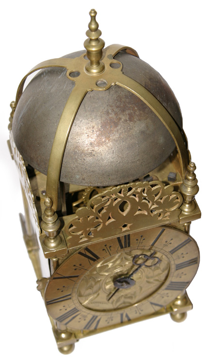 West Country Lantern Clock with rare tic-tac escapement
